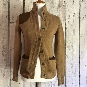 *Ralph Lauren* brown wool cardigan size XS